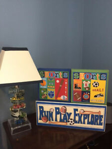 One of a Kind Matchbox Car Lamp and Accessories for childs room