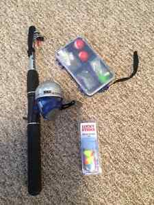 Fishing rod and supplies - used once