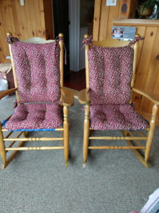 Maple rocking chairs