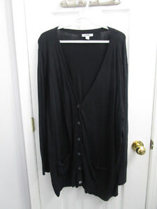 Ladies plus size v-neck black cardigan in size 3X from Old Navy