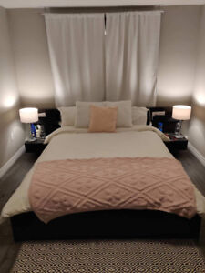 Malm Brown Queen Size Bed