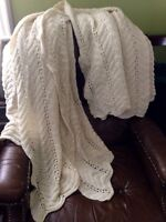 New hand made blanket throw.  Very large, for king size bed