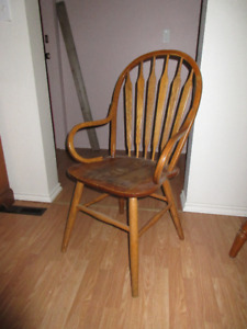 Two oak chairs for sale
