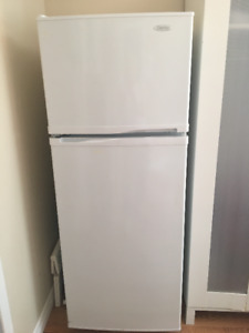 Fridge and stove for in law suite or small apartment.