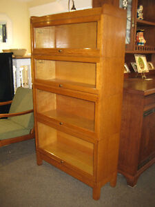STUNNING ANTIQUE STACKING OAK BARRISTER'S BOOKCASE AT CHARMAINES
