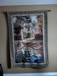 "54""x80"" Vail Oxely Lily Pond Tapestry Wall Hanging"
