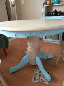 cute table/chairs and Hutch