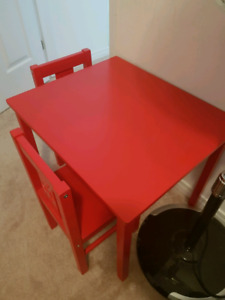 Ikea table and 2 chaira