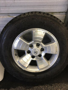 Toyota 17in Rims and BRAND new tires 255/65/17