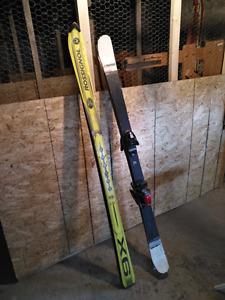 Ski alpin head mad trix et rossignol x6