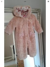 Baby girl Ted baker coats age 6-9 months perfect condition