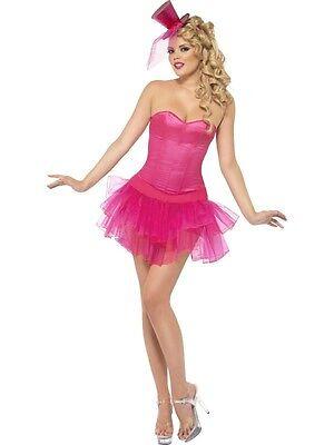 COSTUME BURLESQUE SEXY ROSA CON TUTU Tg. S Donna Carnevale Smiffy's 110 26166S