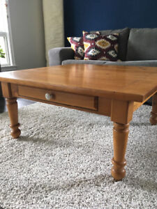 Real wood coffee table - great for refinishing!