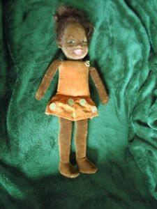 EARLY NORAH WELLINGS AFRICAN GLASS EYED DOLL