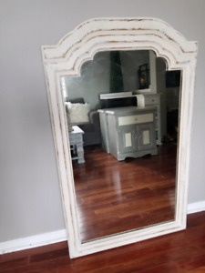 Refinished mirror old whire