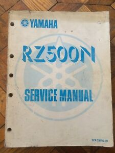 RARE Yamaha Collectors RZ500N Service Manual