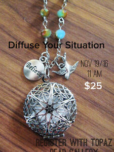 Essential Oil Diffuser Jewellery Class Prince George British Columbia image 1