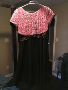 Tatyana Pink Black Retro Rockabilly Roses Dress 4XL