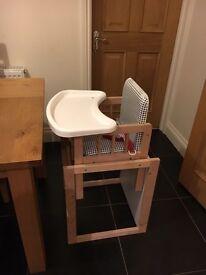 Children's high chair / table & chair