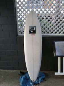 Single fin surfboard 6.8