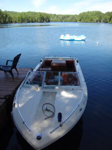 Boat, inboard 140 hp with trailer...as is