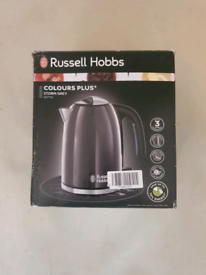Brand new russell hobbs colours plus grey kettle