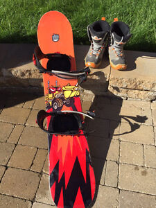 Youth K2 Snowboard and Boots