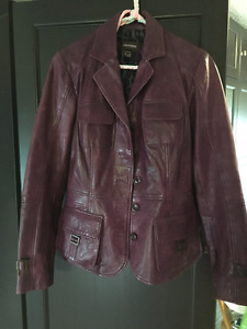 Purple Danier Leather Jacket