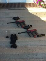 Paintball Guns and accessories Like New Condition!