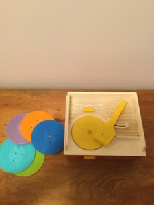 Vintage Fisher Price Record Player Music Box