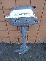 Evinrude outboard motor. 3.5 HP. Running.