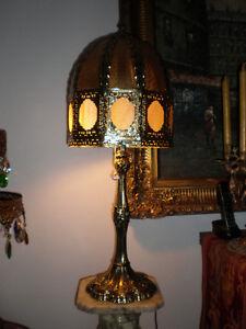 LAMPE ANTIQUE BRASSE TRES RARE