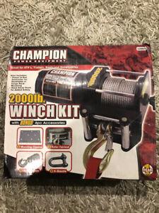 CHAMPION 2000 lb.. WINCH KIT, W/4 ACCESSORIES