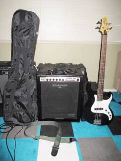 BASS GUITAR+AMP+CARRY BAG+LEADS+STRAP Kings Langley Blacktown Area Preview