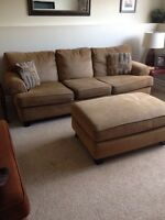 Sofa, Chair 1/2, Kitchen Table & 4 Chairs
