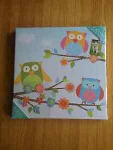 New - Owl Canvas Magnet Board Kitchener / Waterloo Kitchener Area image 1