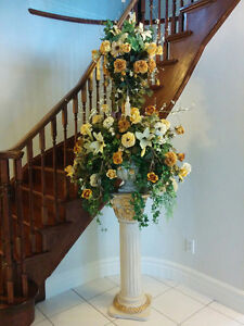 Decorations Arrangements Custom Made out of Silk Flowers.