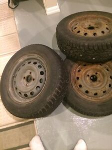 Winter tires on 4 bolt steelies Cambridge Kitchener Area image 2