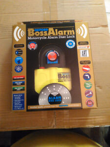 OXFORD BOSS ALARM WITH ALLOY KEYS YELLOW BRAND NEW OF-3