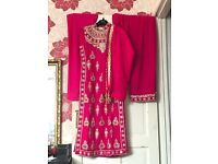 Hot pink indian suit
