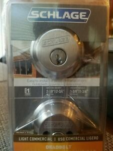 Schlage B62CSSK V 626 Light Commercial Double Cylinder Deadbolt,