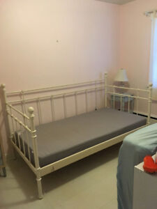 IKEA twin bed frame plus mattress -- doubles as daybed