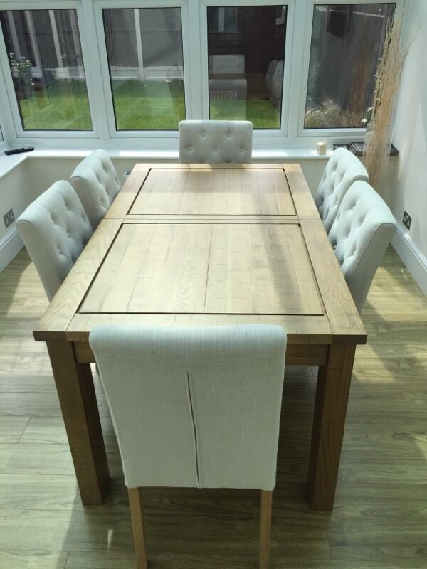 Next Oakham Extending Dining Table 6 Moda II Chairs