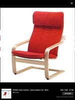 Ikea red Poang chair
