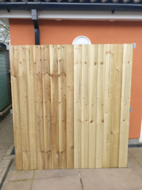 6ft x 5ft Feather Edge Fence panels made to order