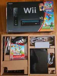 Like New!  Nintendo wii super mario bundle