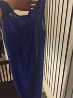 Sexy blue sequent party dress
