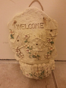 Welcome Sign and Birdfeeder