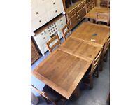 1.8m extending oak dining tabke