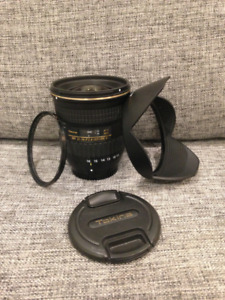 Tokina lens for Nikon 11-16mm f2.8 DX, excellent condition!